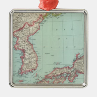 Japan Silver-Colored Square Decoration