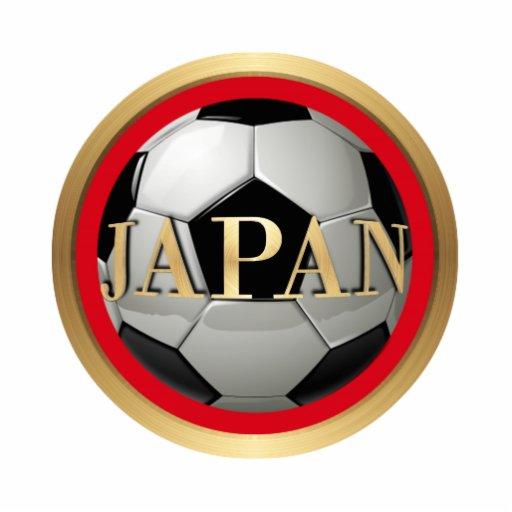 Japan Soccer Ball with Golden Frame Cut Out