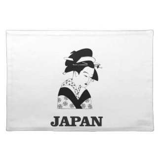 japan traditional woman placemat