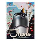 Japan Train vintage travel poster. Poster
