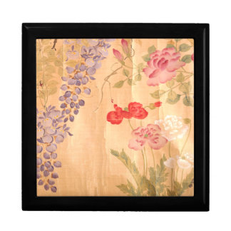 Japan Wisteria Roses Flowers Floral Large Square Gift Box