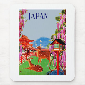 Japan with Deer Mouse Pad