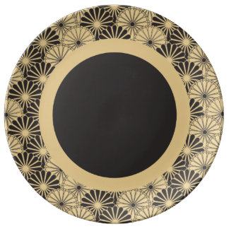 Japan. Yellow Floral Flowers. Plate
