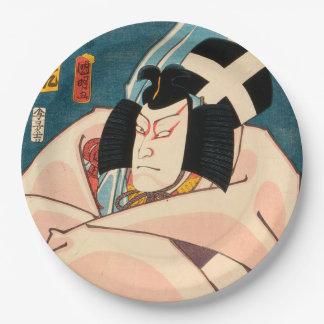Japanese actor (#10) (Vintage Japanese print) Paper Plate