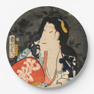 Japanese actor (#12) (Vintage Japanese print) Paper Plate