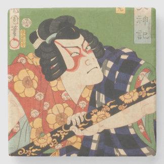 Japanese actor (#1) (Vintage Japanese print) Stone Coaster