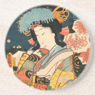 Japanese actor (#2) (Vintage Japanese print) Coaster