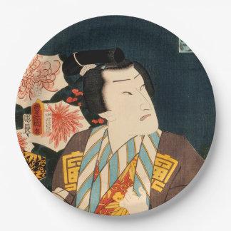 Japanese actor (#3) (Vintage Japanese print) Paper Plate