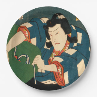 Japanese actor (#5) (Vintage Japanese print) Paper Plate