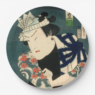 Japanese actor (#8) (Vintage Japanese print) Paper Plate