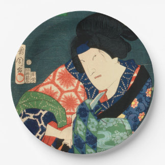 Japanese actor (#9) (Vintage Japanese print) Paper Plate