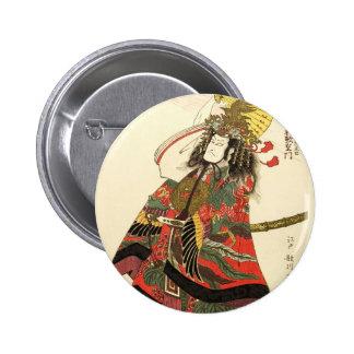 Japanese Actor as a Samurai Military Leader 6 Cm Round Badge