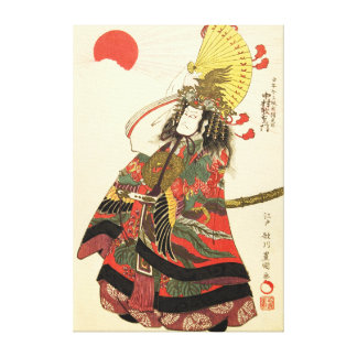 Japanese Actor as a Samurai Military Leader Gallery Wrapped Canvas