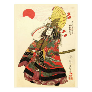 Japanese Actor as a Samurai Military Leader Postcard