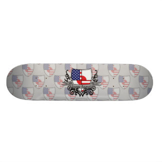 Japanese-American Shield Flag Skateboard