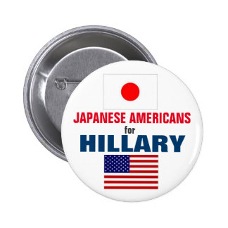 Japanese Americans for Hillary 2016 6 Cm Round Badge