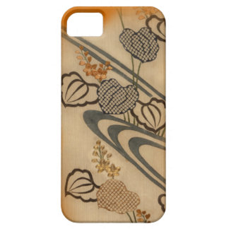 Japanese Antique Fabric Print Barely There iPhone 5 Case
