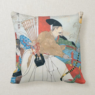Japanese Archer Ancient Art Cushion