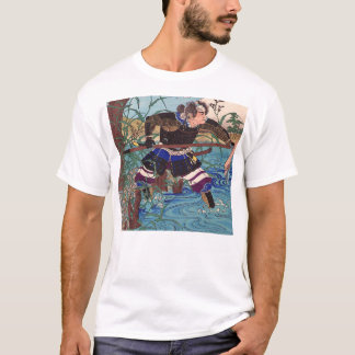 Japanese Art - A Samurai Ready To Attack T-Shirt
