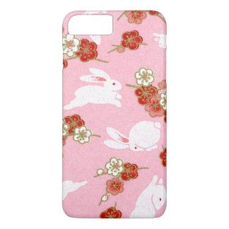 Japanese Art: Pink Sakuras & Rabbits iPhone 7 Plus iPhone 8 Plus/7 Plus Case