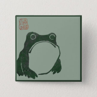 Japanese art ukiyo frog 15 cm square badge