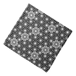 Japanese Asanoha pattern - black and white Bandana