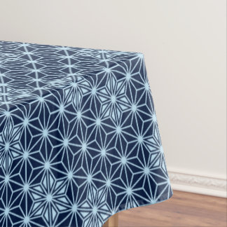 Japanese Asanoha pattern - Indigo Blue Tablecloth