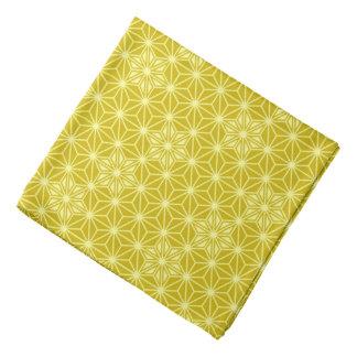 Japanese Asanoha pattern - mustard gold Kerchief