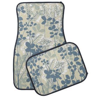 Japanese Asian Art Floral Blue Flowers Print Car Mat