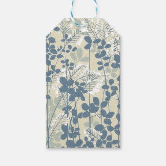 Japanese Asian Art Floral Blue Flowers Print Gift Tags