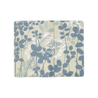 Japanese Asian Art Floral Blue Flowers Print Large Moleskine Notebook