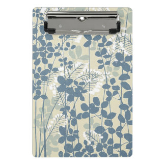 Japanese Asian Art Floral Blue Flowers Print Mini Clipboard