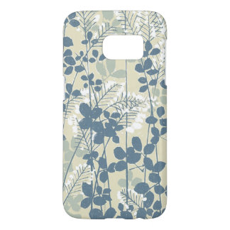 Japanese Asian Art Floral Blue Flowers Print Phone
