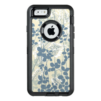 Japanese Asian Art Floral Blue Flowers Print Phone OtterBox Defender iPhone Case