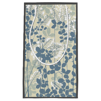 Japanese Asian Art Floral Blue Flowers Print Small Gift Bag