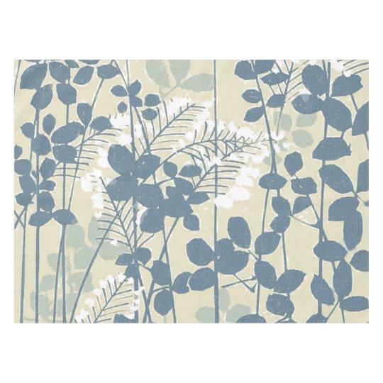 Japanese Asian Art Floral Blue Flowers Print Tablecloth