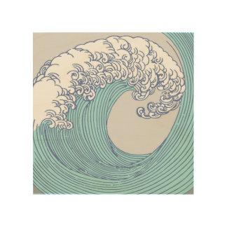 Japanese Asian Surf Wave Art Print Ocean Beach