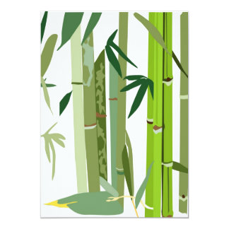 Japanese Bamboo Illustration invite