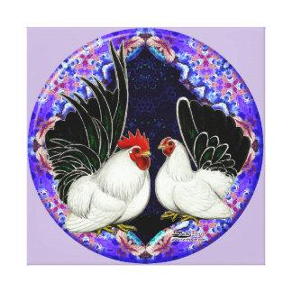 Japanese Bantam Circle Stretched Canvas Print