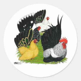 Japanese Bantam Quartet Classic Round Sticker