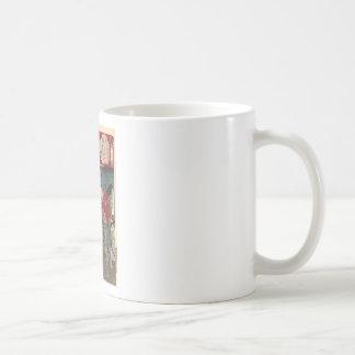 Japanese Beautiful Geisha Samurai Art Coffee Mug