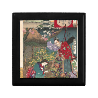 Japanese Beautiful Geisha Samurai Art Gift Box