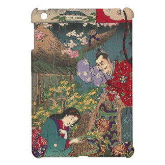 Japanese Beautiful Geisha Samurai Art iPad Mini Case