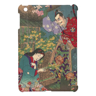 Japanese Beautiful Geisha Samurai Art iPad Mini Cases