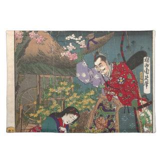 Japanese Beautiful Geisha Samurai Art Placemat