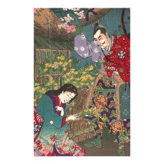 Japanese Beautiful Geisha Samurai Art Stationery