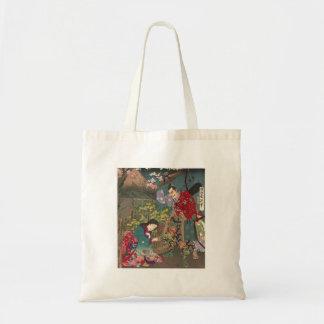 Japanese Beautiful Geisha Samurai Art Tote Bag