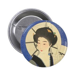 Japanese Beauty At the Bathouse 6 Cm Round Badge