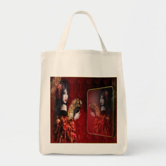 Japanese Beauty - Grocery Tote Bags