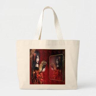 Japanese Beauty - Jumbo Tote Canvas Bags